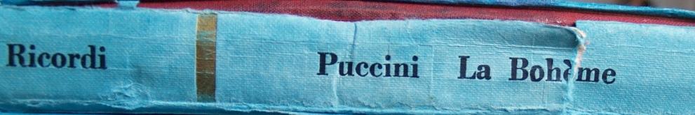 клавир на Бохеми от Пучини