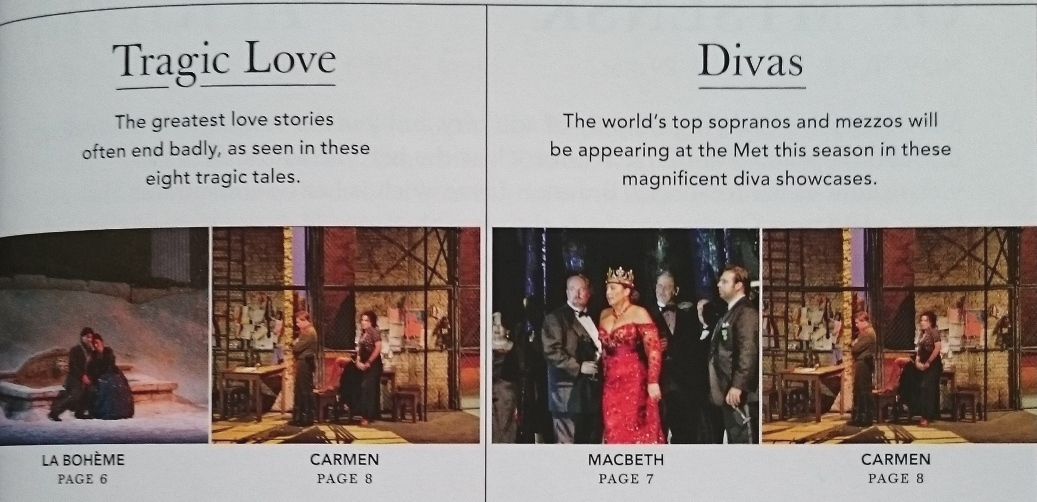 Мет опера - брошура за сезона