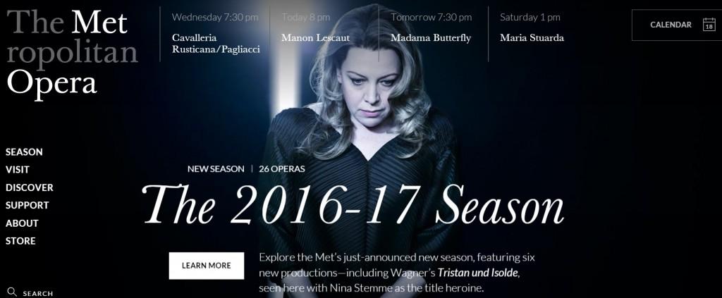 Сезон 2016/2017 в Метрополитън опера